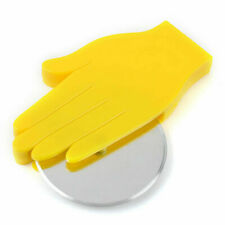 Very Sharp Stainless Steel Yellow Hand Design Pizza Cutter or Waffles Slicer