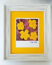 ANDY WARHOL ORIGINAL 1984 SIGNED FLOWERS MATTED TO BE FRAMED AT 11X14