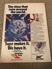 1982 ASICS TIGER Running Shoes Poster Print Ad CORSAIR EXPLORER X-CALIBER GT