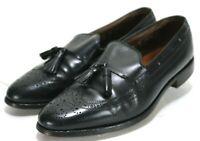 Allen Edmonds Manchester $210 Men's Wing Tip Tassel Loafers Shoes Size 10 Black