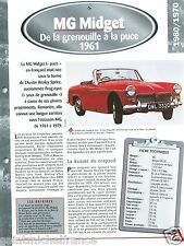MG Midget Mk III  4 Cyl. 1961 Great Britain UK Car Auto Retro FICHE FRANCE