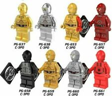 Star Wars Minifigures Protocol Droid C3PO C-3PO Figures Bricks Action Black Red