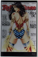 WONDER WOMAN REAR ROLLING STONE Cover METAL Print HAND SIGNED Jamie Tyndall COA