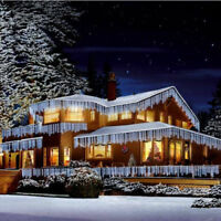 ICICLE LIGHTS 240/360/480/720/960/1200 LEDS SNOWING EFFECT XMAS CHRISTMAS UNIT