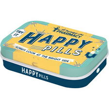 NOSTALGIE ► Pillendose HAPPY PILLS mit Pfefferminzdragees NEU OVP