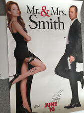 MR. AND MRS. SMITH SIGNED 28 x 40 MOVIE POSTER PHOTO W/COA