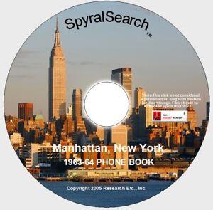 New York - Manhattan 1963 Phone Book on CD