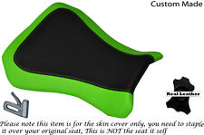 GREEN & BLACK CUSTOM FITS RIEJU RS3 125 FLAT FRONT LEATHER SEAT COVER