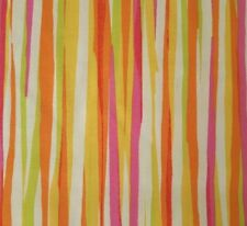 Bold & Beautiful BTY Michelle D'Amore Benartex Pink Orange White Green Stripe