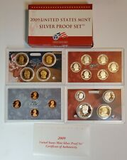 2009 S Silver Proof Set with all 18 Coins 90% Silver Quarters & Kennedy US Mint