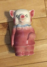 Vintage Royal Copley Pottery Boy Piggy Bank- No Scratches or Chips-No Stopper