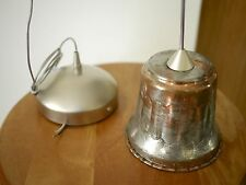 Vintage French Country Rustic Primitive Copper Hanging Pendant Light Fixture 4""
