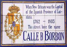MAGNET New Orleans Street Sign CALLE DE BORBON