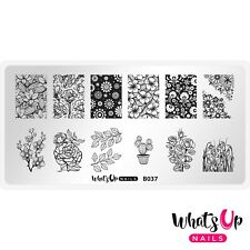 B037 Growing Beauty Stamping Plate For Stamped Nail Art Design