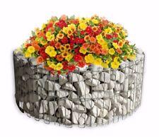 CraftSnake Gabionen Höhe 40x107 cm Garten Steinkörbe Blumenbeet Drahtkorb Rund