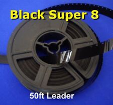 Super 8 film BLACK Cine leader 50ft