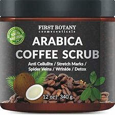 100% Natural Arabica Coffee Scrub 12 oz. with Organic Coffee Coconut and Shea