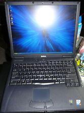 Vintage Dell Latitude C640 Laptop Pent 4  2GHz 1GB RAM 80GB DVD XP Pro SP3 Read