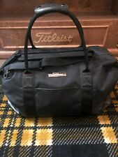 Titleist Leather Travel Duffel Bag w/ Shoulder Strap, Never Been used 9.5 out 10