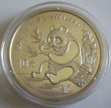 China 10 Yuan 1991 Panda Shenyang Mint (Kleines Datum) 1 Oz Silber