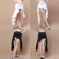 Women Training Belly Dance Costume Wave Hip Scarf Tribal Waist Belt Slit Skirts