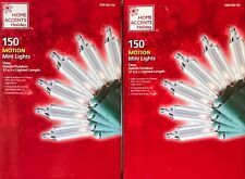 300 Home Accents Holiday Clear 8-Function Motion Mini-Lights - 74 1/2-feet - New