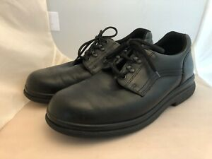 Red Wing Mens SZ 13 B #8618 Black Leather Oxford Work Shoes Oil Resistant Laces