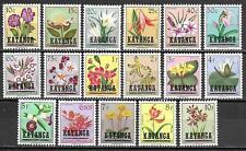 Katanga stamps 1960 OBP 23-39 MNH VF Flowers!