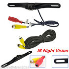 Wired LED License Plate Car SUV Rear View Reverse Parking Camera IR Night Vision