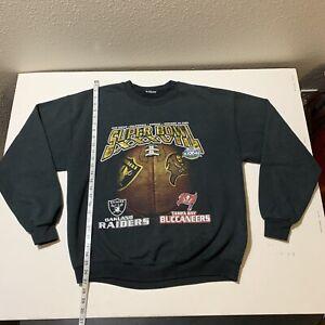 Vintage Tampa Bay Buccaneers Bucs Super Bowl XXXVII Crewneck Sweatshirt Raiders