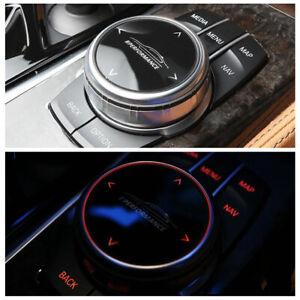 Small Multimedia Knob Cover IDRIVE Button Trim M/// for BMW F10 F20 F30 5' 6'GT
