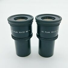 Leica Microscope Eyepieces HC Plan 10x/22 Article No. 507804 with Reticle
