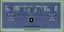 Duits Empire Rosenbg: 501a ongecirculeerd 1942 1 Reichspfennig Leger