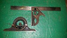 Vintage Starrett Combination Square Set Tool Pieces