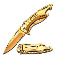 MTech A705GD Gold Titanium Assisted Opening Open Tactical Folding Pocket Knife