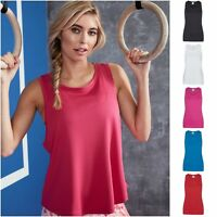 Womens Ladies Fitness Running Sleeveless Tee Vest Top Gym Sports Yoga Breathable