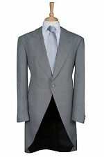 ROYAL ASCOT LIGHT GREY 2 PIECE WOOL EX HIRE TAILCOAT WEDDING TAILS MORNING SUIT