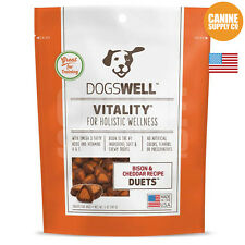 Dogswell Vitality Duets Bison & Cheddar Dog Treats, 5-Ounce Bag