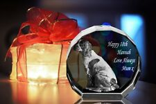 Personalised 3D Laser Etched CRYSTAL GLASS GIFT - XL (YOUR PHOTO IN A CRYSTAL)