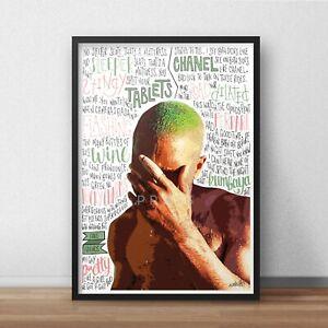 Frank Ocean Poster / Print / Wall Art A5 A4 A3 / Blonde / White Ferrari