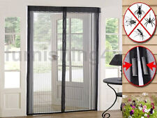 MAGIC CURTAIN DOOR MESH - MAGNETIC FASTENING HANDS FREE FLY BUG INSECT SCREEN