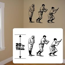 Baseball players wall decal, fathead style baseball style players for kids room