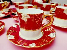 Royal Crown Derby Vine Maroon Coffee Can & Saucer.