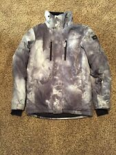Men's Quiksilver Gray/Black/White Snowboard Jacket - XS