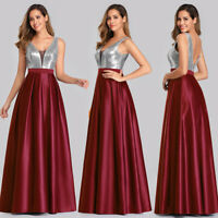 Ever-Pretty V-neck A-Line Formal Cocktail Dress Wedding Evening Ball Gown 07633