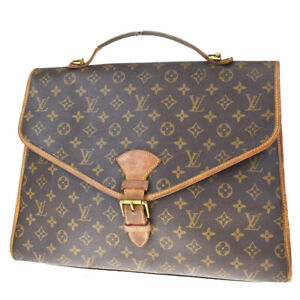 Authentic LOUIS VUITTON Beverly Hand Bag Monogram Leather Brown M51121 62MF164