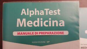 Otto libri usati Alpha Test medicina + cinque fascicoli di prove simulate