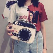 Women Cute Camera Shape Small Shoulder Bag Handbag Adjustable Strap Purse Zipper