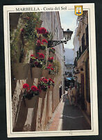 Dated 1997 View of a Narrow Street, Marbella, Costa del Sol