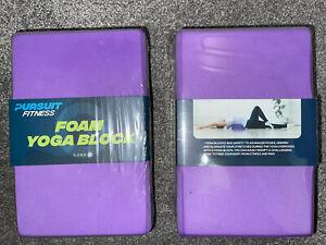2 x High Density PURPLE EVA Foam Yoga Brick Lightweight Odour Resistant Block